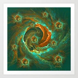 Mothering vortex Art Print