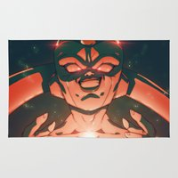 dragonball Area & Throw Rugs featuring Frieza by Mikuloctopus