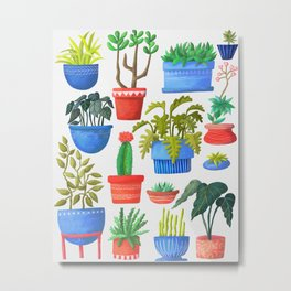 House Plants Metal Print