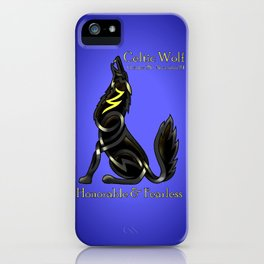Celtic Zodiac Wolf iPhone Case