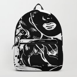 Crying Comic Book Damsel in Distress Backpack
