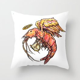 Harpe Crustaceam Throw Pillow