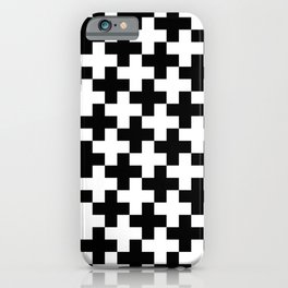 Black and White Crosses/Plus Signs iPhone Case