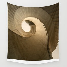 Spiral stairs in brown tones Wall Tapestry