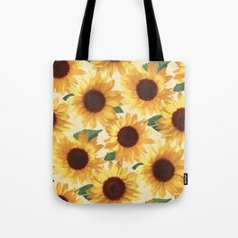 Happy Yellow Sunflowers Tote Bag