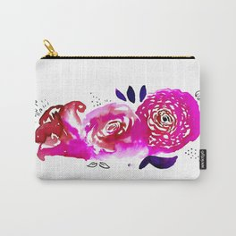 Three Purple Christchurch Roses Carry-All Pouch
