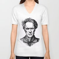 clint eastwood V-neck T-shirts featuring Clint Eastwood by Oriane Mlr