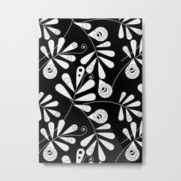 White Beauty on Black #society6 #buyart #decor Metal Print