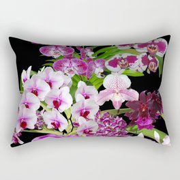 Orchids - Cool colors! Rectangular Pillow
