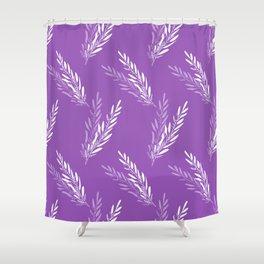 Fragrant lavender flowers in purple arranged in an endless pattern Shower Curtain