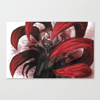 tokyo ghoul Canvas Prints featuring tokyo ghoul by keiden