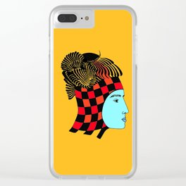 The Checkered Lady Clear iPhone Case