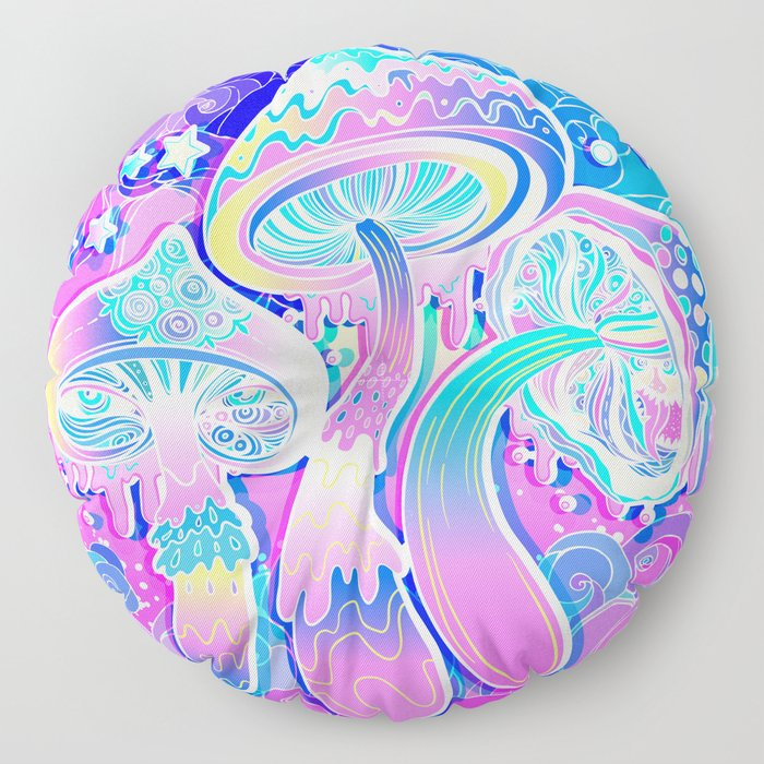 Magic Mushrooms Floor Pillow