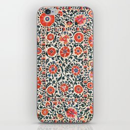 Shakhrisyabz Suzani  Uzbekistan Antique Floral Embroidery Print iPhone Skin