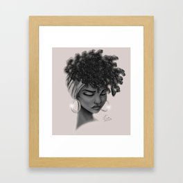 Hoops and Scarf Framed Art Print