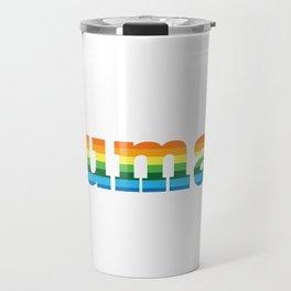 Human LGBT Pride Rainbow Flag Travel Mug