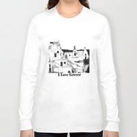 greek Long Sleeve T-shirts featuring Greek Island by KostasK