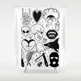 Flash Page II Shower Curtain