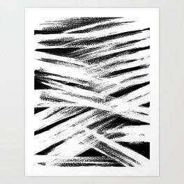 White brush Art Print