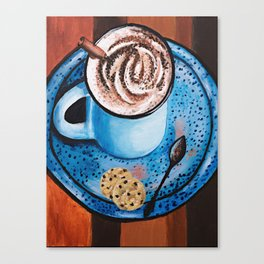 Cappucino Time Canvas Print