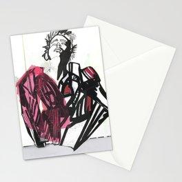 BLACK/WHITE BOY Stationery Cards