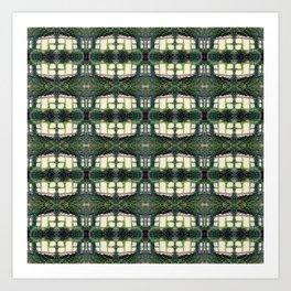 Pattern 56 - Windows and wall vines Art Print