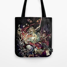 Zombies in Wonderland Tote Bag