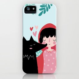 Red Riding Hood and the Wolf iPhone Case