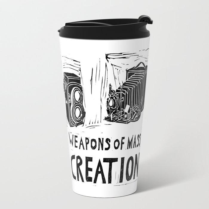 Weapons Of Mass Creation - Photography (blockprint) Travel Mug
