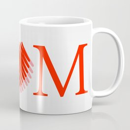 Happy mothers day- Red heart scribbled to form letter O Coffee Mug