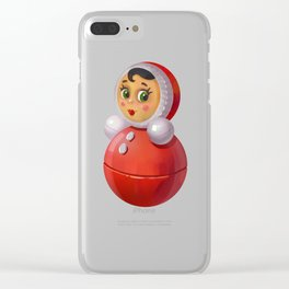 Illustration with tumbler toy Clear iPhone Case