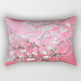 Van Gogh Almond Blossoms : Pink & Aqua Rectangular Pillow