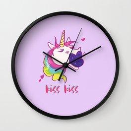 kissy unicorn Wall Clock