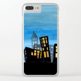 Silhouette City Clear iPhone Case