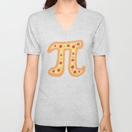 Pizza Pi Funny Visual Math Pun - Mathematics Humor Gift Unisex V-Neck