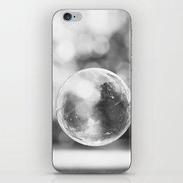 Black and White Bubble Photography, Grey Laundry Art, Gray Bathroom Decor,Bubbles Laundry Room Photo iPhone Skin