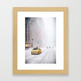 NYC Snow Storm Jonas Framed Art Print