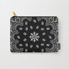 black and white bandana Carry-All Pouch