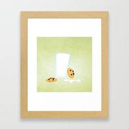 Cookies N' Milk (square) Framed Art Print