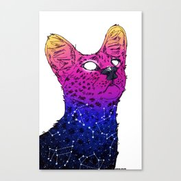 Galaxy Serval Canvas Print