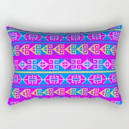 Colorful Mexican Aztec geometric pattern Rectangular Pillow