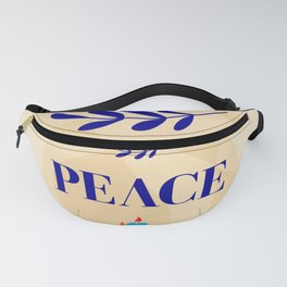 Peace lettering Fanny Pack