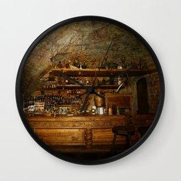 Riga Black Balsam Bar in Riga Latvia Wall Clock