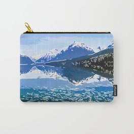 Reflection of Mountains in McDonald lake Carry-All Pouch