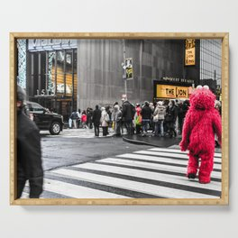Black and colour New York City ArtWork Street Serving Tray