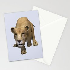 Jumping Lioness Stationery Cards