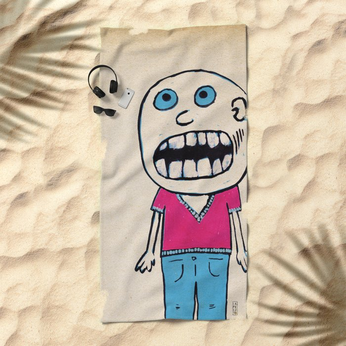 - no way - Beach Towel