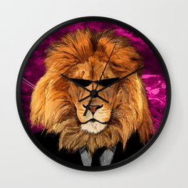 Lion Suit Wall Clock