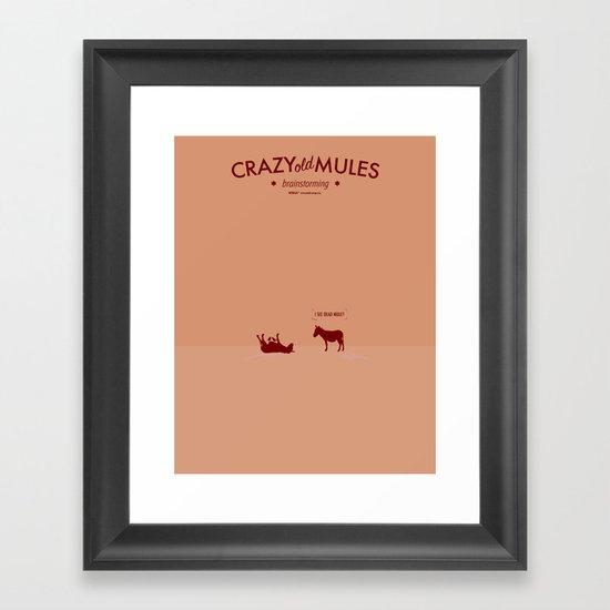 Crazy old Mule / I See Dead Mule Framed Art Print