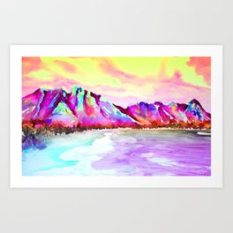 SUNSET BLISS Art Print